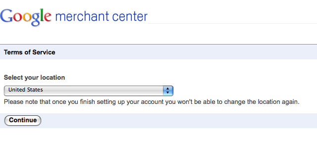 merchant center terms of service google suredone