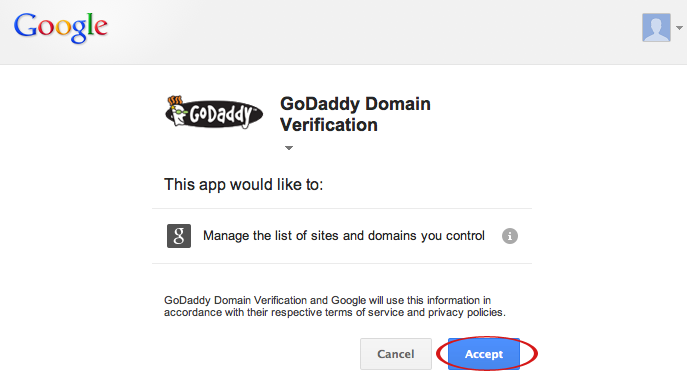 google webmaster tools godaddy domain