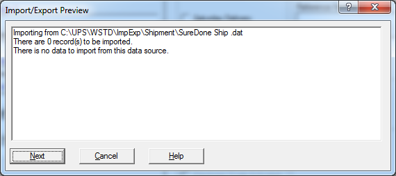 import export preview ups suredone