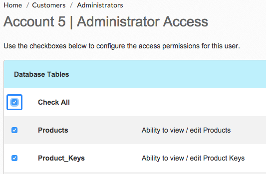 Volusion Admin Access Database Tables